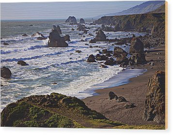 California Coast Sonoma Wood Print by Garry Gay