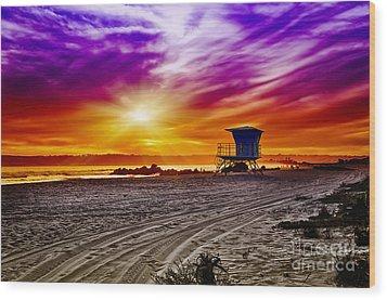 California Dreaming Wood Print by Alessandro Giorgi Art Photography