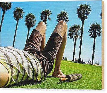 California Dreaming Wood Print by Amber Abbott