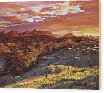 California Dreaming Wood Print by David Lloyd Glover