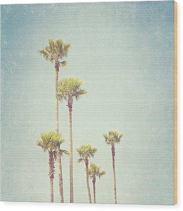 California Dreaming - Palm Tree Print Wood Print by Melanie Alexandra Price