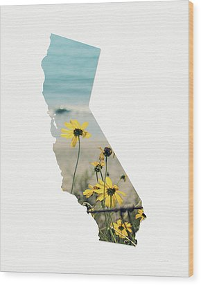 Wood Print featuring the mixed media California Dreams Art By Linda Woods by Linda Woods