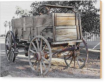 California Farm Wagon Wood Print