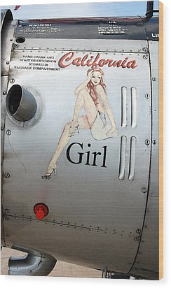 California Girl Wood Print