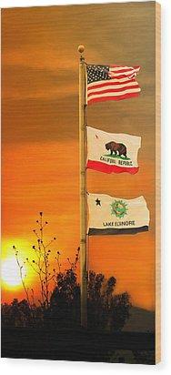 California Glory Wood Print by Richard Gordon