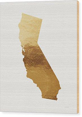 California Gold- Art By Linda Woods Wood Print by Linda Woods