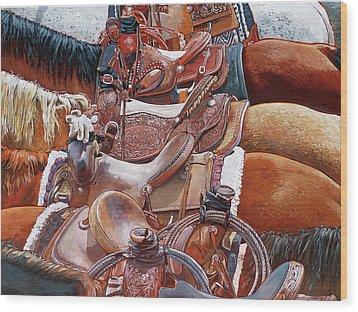 California Members Only Wood Print by Nadi Spencer