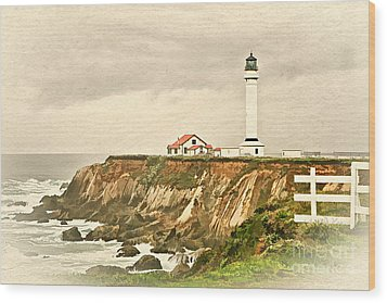 California - Point Arena Lighthouse Wood Print