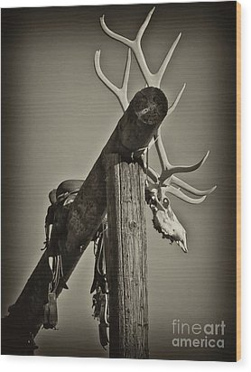 California Ranch Gate   Wood Print by Gus McCrea