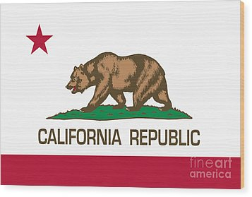 California Republic State Flag Authentic Version Wood Print