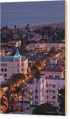 California Street At Ventura California Wood Print by John A Rodriguez