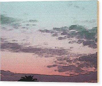 California Sunset - 1 Wood Print by Sally Stevens