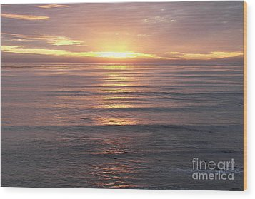 Wood Print featuring the photograph California Sunset by Carol  Bradley