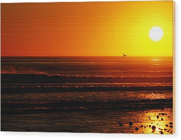 California Sunset  Wood Print