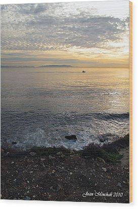 Wood Print featuring the photograph California Sunset by Joan  Minchak
