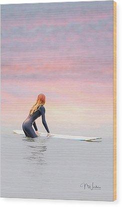California Surfer Girl II Wood Print