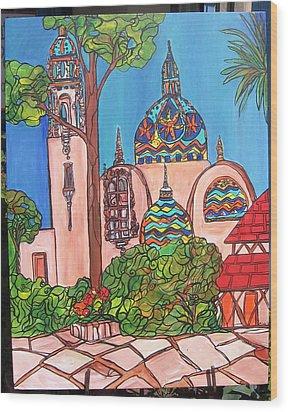 California Towers-balboa Park-san Diego Wood Print by Michelle Gonzalez
