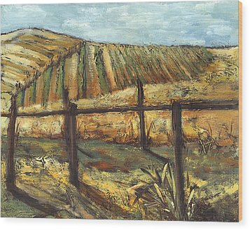 California Vineyard Wood Print by Susan Adame
