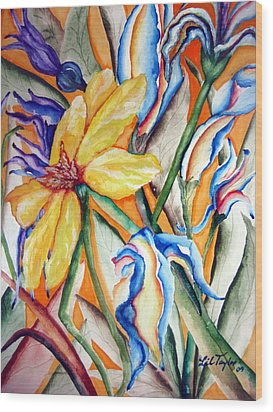 California Wildflowers Series I Wood Print by Lil Taylor