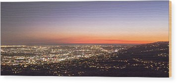 Californian Sunset Wood Print