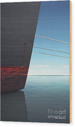Call Of The Distant Shores Wood Print by Marc Nader