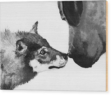 Call Of The Wild Illustration Wood Print by Jessica Kale