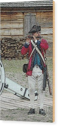 Call To Arms Wood Print by Diane E Berry