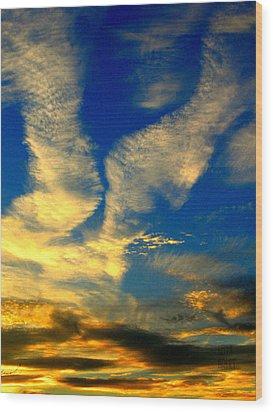 Call To The Sky Wood Print