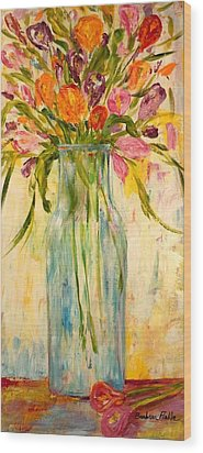 Calla Lilies Wood Print by Barbara Pirkle