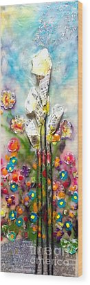 Calla Lily Dance Wood Print