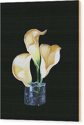 Calla Lily Wood Print by Darlene Green