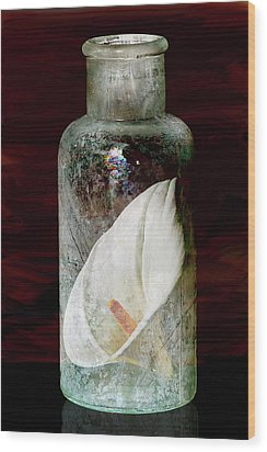 Wood Print featuring the photograph Calla Lily In A Bottle by Phyllis Denton