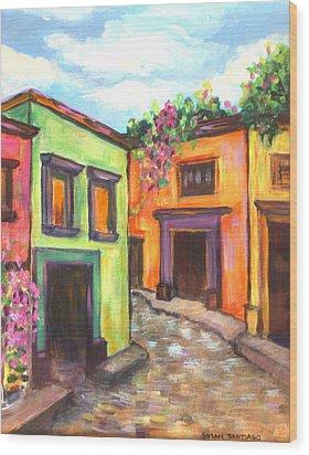 Calle En San Miguel De Allende Wood Print
