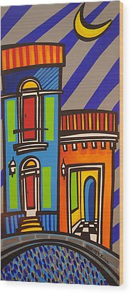 Calle Luna Wood Print by Mary Tere Perez