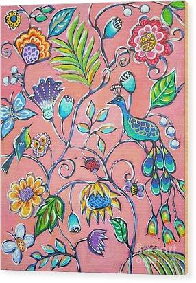 Callies Garden Wood Print by Sandra Lett