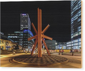 Calling After Sundown Wood Print by Randy Scherkenbach
