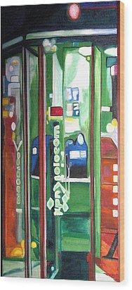 Calling Dam Wood Print by Patricia Arroyo