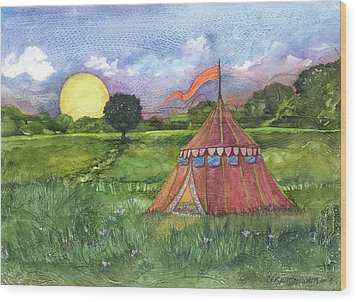 Calliope's Tent Wood Print by Casey Rasmussen White