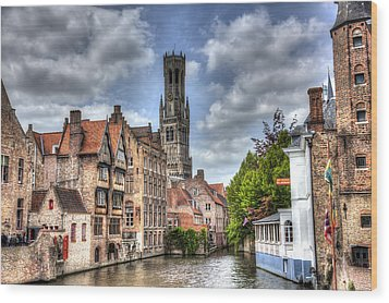 Calm Afternoon In Bruges Wood Print by Shawn Everhart
