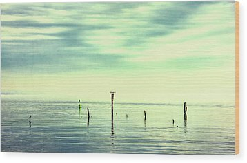 Wood Print featuring the photograph Calm Bayshore Morning N0 1 by Gary Slawsky