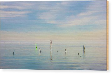 Wood Print featuring the photograph Calm Bayshore Morning N0 2 by Gary Slawsky