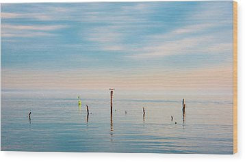 Wood Print featuring the photograph Calm Bayshore Morning N0 3 by Gary Slawsky