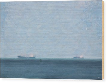 Calm Blue Lake 1 Wood Print by Chamira Young