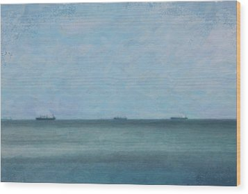 Calm Blue Lake 3 Wood Print by Chamira Young