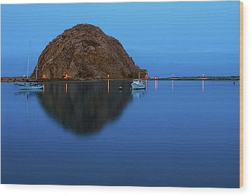 Calm Morning, Morro Bay, California Wood Print