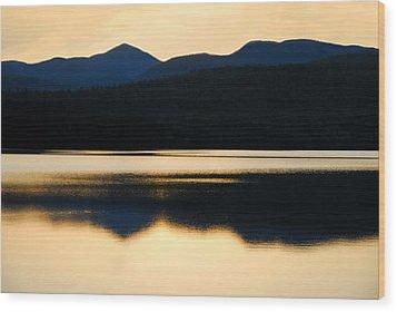 Calm Over Blue Lake Wood Print
