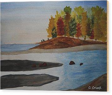 Calm Tide Wood Print