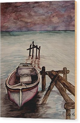 Calm Waters Wood Print by Lil Taylor