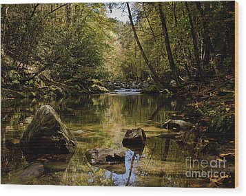 Wood Print featuring the photograph Calmer Water by Douglas Stucky