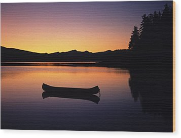 Calming Canoe Wood Print by John Hyde - Printscapes